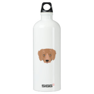 Illustrations-golden retriever-Welpe Wasserflasche
