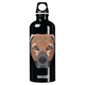 Illustrations-Hund Brown Labrador Aluminiumwasserflasche