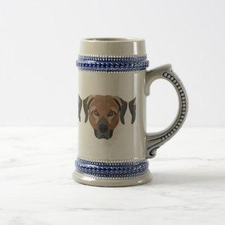 Illustrations-Hund Brown Labrador Bierglas
