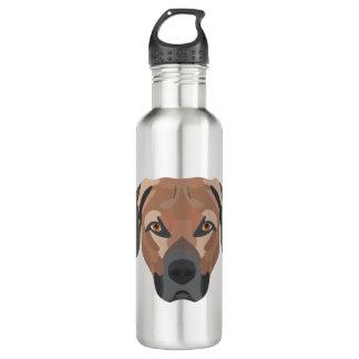 Illustrations-Hund Brown Labrador Edelstahlflasche