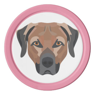 Illustrations-Hund Brown Labrador Poker Chip Set