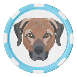 Illustrations-Hund Brown Labrador Poker Chips
