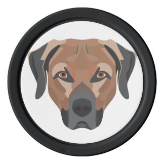 Illustrations-Hund Brown Labrador Pokerchips