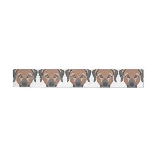 Illustrations-Hund Brown Labrador Rundum-Adressaufkleber