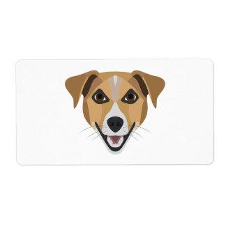 Illustrations-Hund lächelndes Terrier