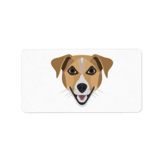 Illustrations-Hund lächelndes Terrier Adressaufkleber
