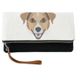 Illustrations-Hund lächelndes Terrier Clutch