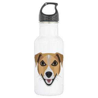 Illustrations-Hund lächelndes Terrier Edelstahlflasche
