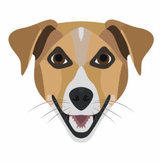 Illustrations-Hund lächelndes Terrier Fotoskulptur Schlüsselanhänger