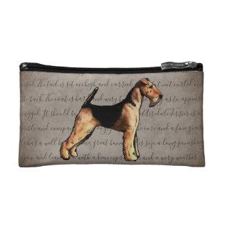 Illustrations-Kosmetik-Tasche Airedales Terrier Kosmetiktasche