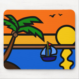 Illustrations-landschaftlicher Strand mit Mousepad