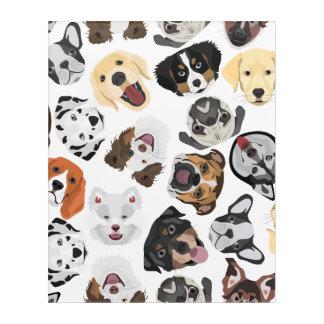 Illustrations-Muster-Hunde Acryldruck
