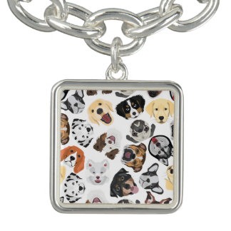 Illustrations-Muster-Hunde Armband