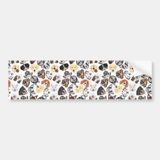 Illustrations-Muster-Hunde Autoaufkleber
