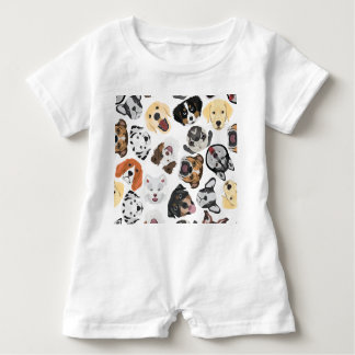Illustrations-Muster-Hunde Baby Strampler