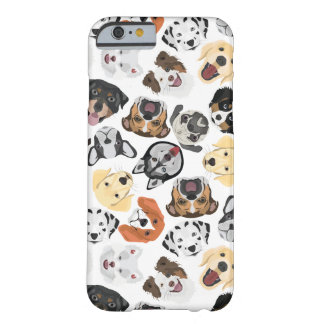 Illustrations-Muster-Hunde Barely There iPhone 6 Hülle