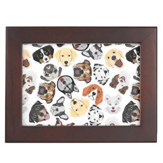 Illustrations-Muster-Hunde Erinnerungsdose