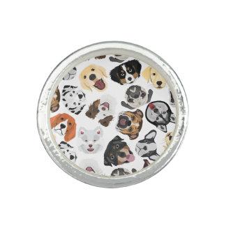 Illustrations-Muster-Hunde Foto Ring