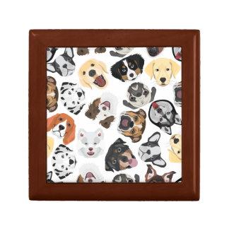 Illustrations-Muster-Hunde Geschenkbox
