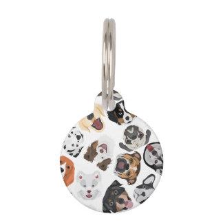 Illustrations-Muster-Hunde Haustiermarke