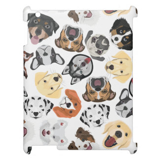 Illustrations-Muster-Hunde iPad Hülle