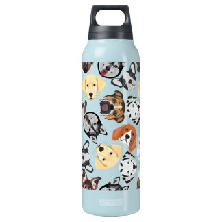 Illustrations-Muster-Hunde Isolierte Flasche