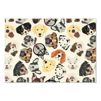 Illustrations-Muster-Hunde Karte