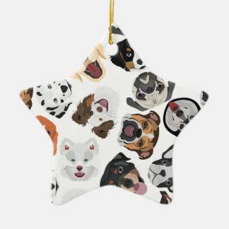 Illustrations-Muster-Hunde Keramik Ornament