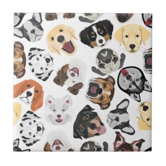 Illustrations-Muster-Hunde Keramikfliese