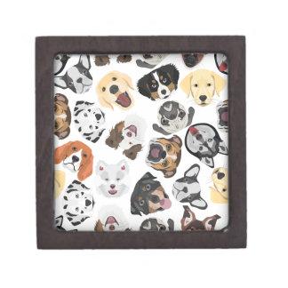 Illustrations-Muster-Hunde Kiste