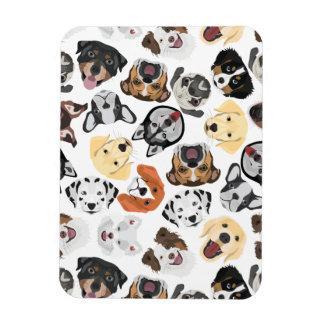 Illustrations-Muster-Hunde Magnet