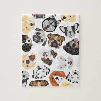 Illustrations-Muster-Hunde Puzzle