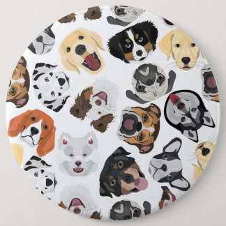 Illustrations-Muster-Hunde Runder Button 15,3 Cm