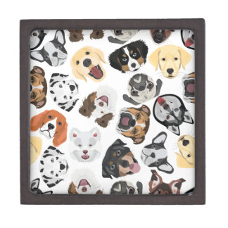 Illustrations-Muster-Hunde Schachtel
