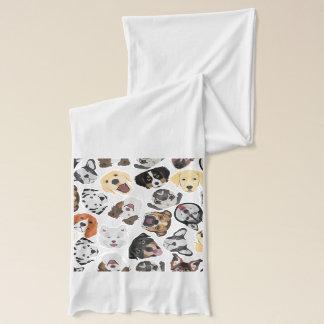 Illustrations-Muster-Hunde Schal