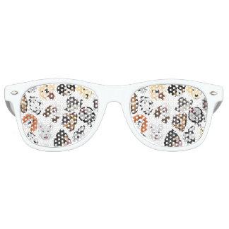 Illustrations-Muster-Hunde Sonnenbrille