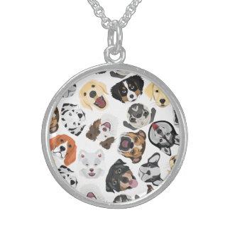 Illustrations-Muster-Hunde Sterling Silberkette