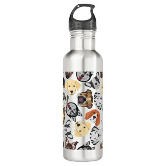 Illustrations-Muster-Hunde Trinkflasche