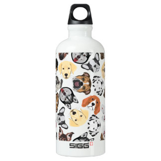 Illustrations-Muster-Hunde Wasserflasche