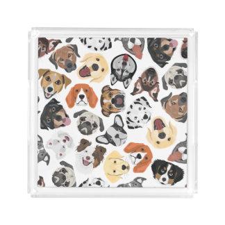 Illustrations-Muster-süße inländische Hunde Acryl Tablett