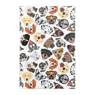 Illustrations-Muster-süße inländische Hunde Acryl Wandkunst