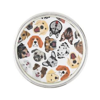 Illustrations-Muster-süße inländische Hunde Anstecknadel
