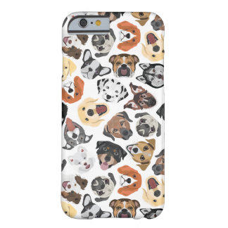 Illustrations-Muster-süße inländische Hunde Barely There iPhone 6 Hülle