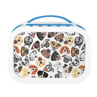 Illustrations-Muster-süße inländische Hunde Brotdose