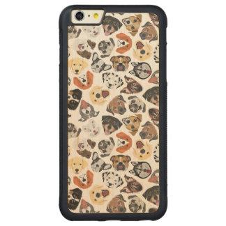 Illustrations-Muster-süße inländische Hunde Carved® Maple iPhone 6 Plus Bumper Hülle