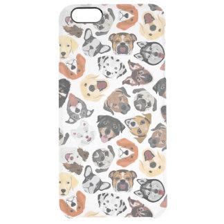 Illustrations-Muster-süße inländische Hunde Durchsichtige iPhone 6 Plus Hülle