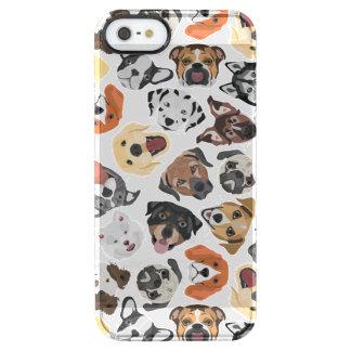 Illustrations-Muster-süße inländische Hunde Durchsichtige iPhone SE/5/5s Hülle