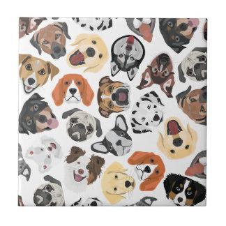 Illustrations-Muster-süße inländische Hunde Fliese