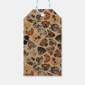 Illustrations-Muster-süße inländische Hunde Geschenkanhänger