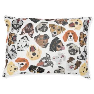 Illustrations-Muster-süße inländische Hunde Haustierbett
